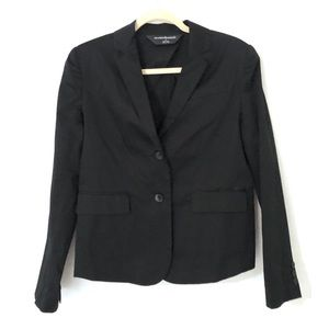 Norma Kamali Size 6 Black Cotton Blend Jacket